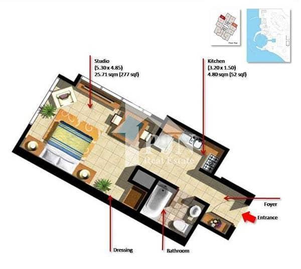 8 Nice Studio For Rent In Marina Heights 2