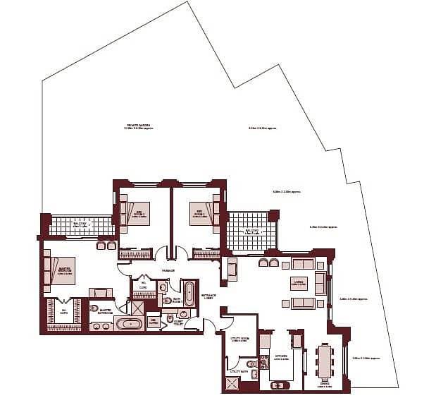 10 Three Bedroom | Vacant on Transfer | Garden