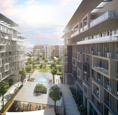 2 Bedroom Flat for Sale in Masdar City, Abu Dhabi - Deluxe Duplex with Leafy Boulevard Views @ 1% Down Payment and 1% Monthly Instalments. !