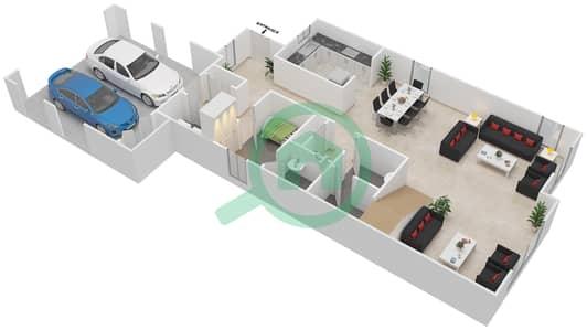 المخططات الطابقية لتصميم النموذج 3 فیلا 4 غرف نوم - کاسا