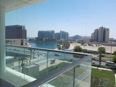 شقة 1 غرفة نوم للايجار في شاطئ الراحة، أبوظبي - Brand New; Huge One Bed with Balconies + Sea View!