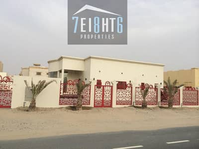 Beautifully maintained: 4 /r ground floor independent villa + maids room + large landscaped garden for rent in Khawaneej