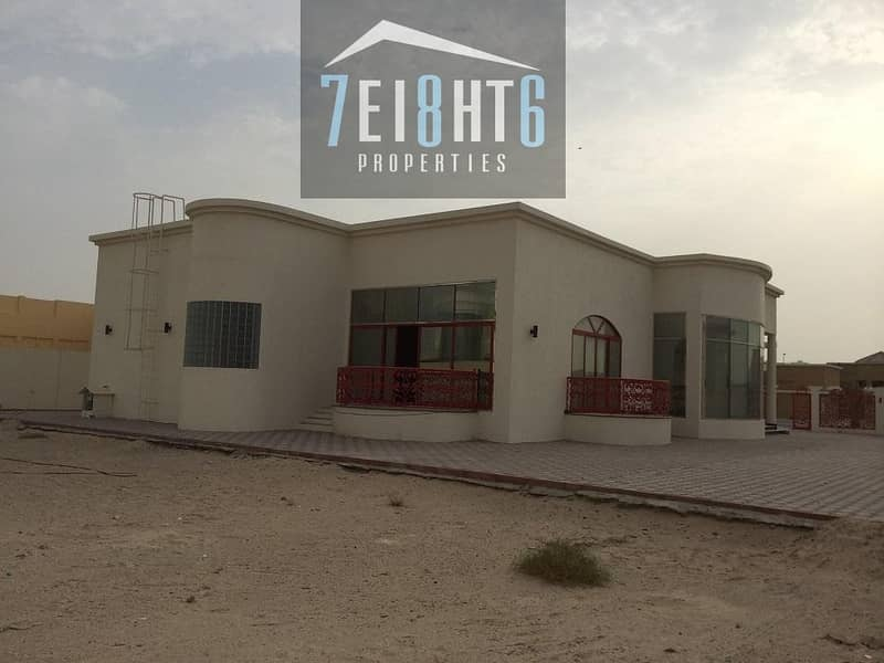 11 Beautifully maintained: 4 /r ground floor independent villa + maids room + large landscaped garden for rent in Khawaneej