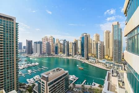 شقة 4 غرفة نوم للبيع في دبي مارينا، دبي - Partial Marina View | 4 Beds + Maid | Huge Balcony