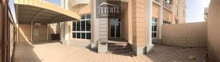 8 Brand new: 3 b/r semi-indep villa + maids room + beautiful landscaped garden for rent in Oud Al muteena 2
