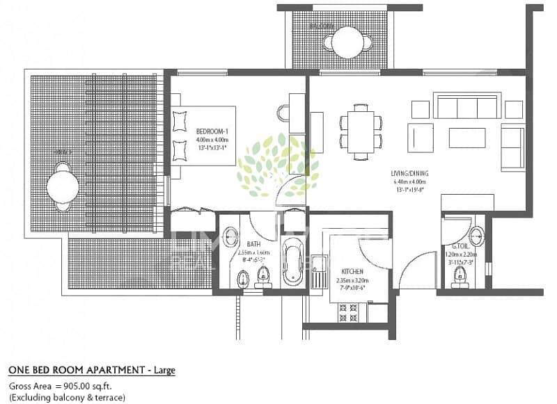 16 Semi Close Kitchen and Terrace  Al Ramth