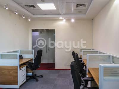 Office for Rent in Business Bay, Dubai - Furnished Office Space| With Executive Furniture |Dedicated Landline