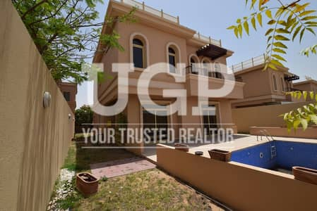 4 Bedroom Villa for Sale in Al Raha Golf Gardens, Abu Dhabi - Hot price! Villa with Private Pool and Extra Rms.