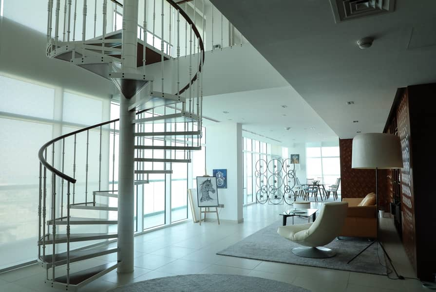 10 Furnished Penthouse with Huge Balcony & Sea View!