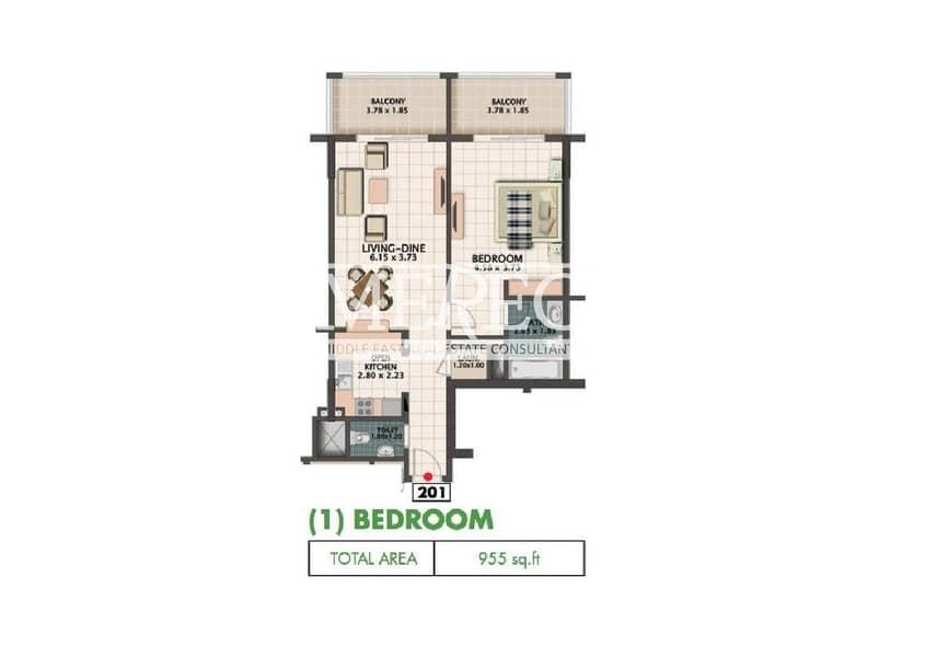 10 Lowest Price 35k| 2 chqs| 1bedroom| Mazaya