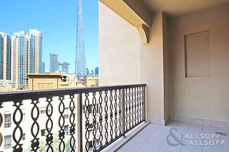 شقة 2 غرفة نوم للايجار في المدينة القديمة، دبي - Two Bedrooms | Study | Burj Khalifa View