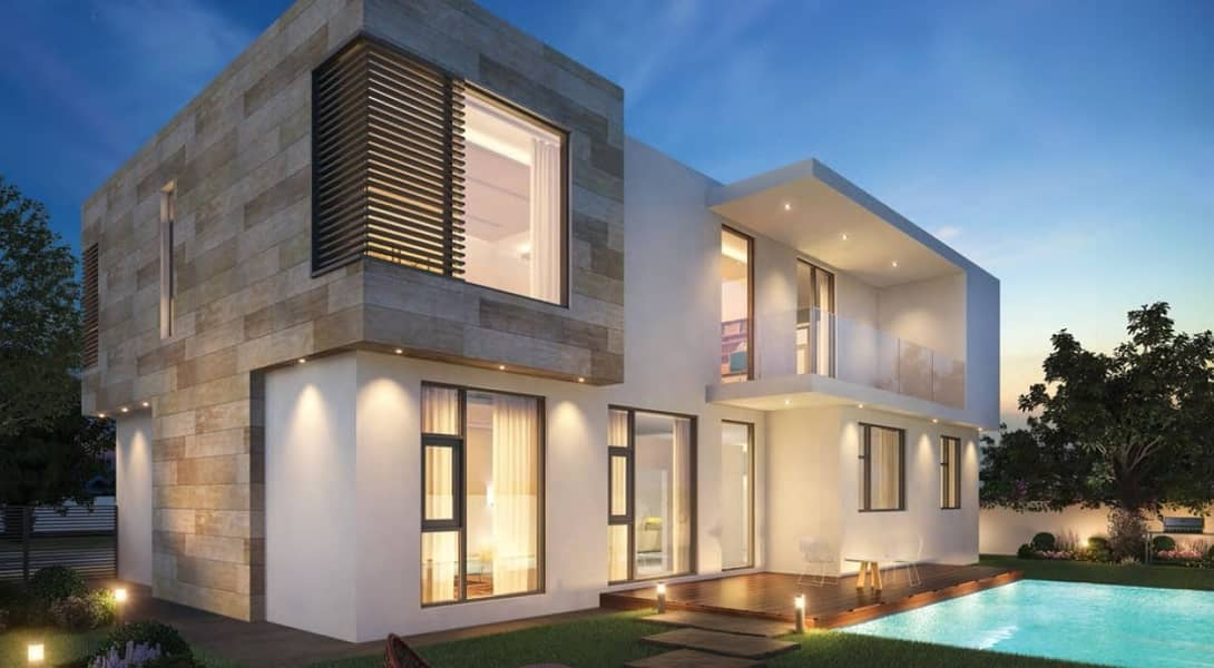 Luxury villa in Sharjah WITHOUT any service charges FOREVER-2bed room