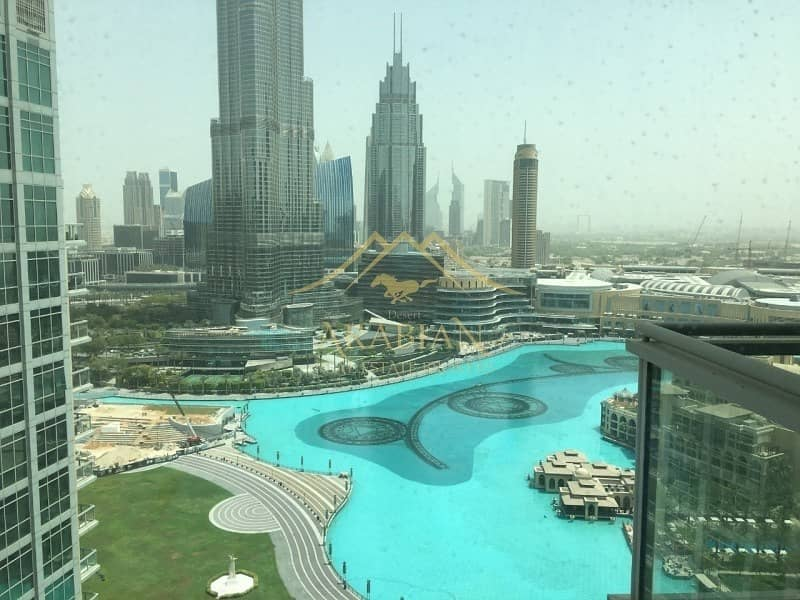 Full Burj Khalifa view 2 BR Address Fountain views