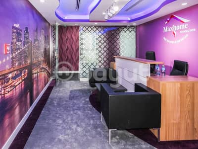 Office for Rent in Al Muroor, Abu Dhabi - Spacious and Brand New Office Fully furnished with Tawtheeq