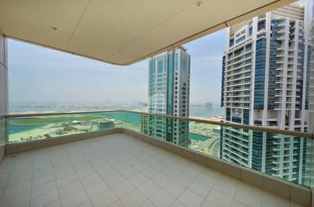 شقة 4 غرفة نوم للبيع في دبي مارينا، دبي - Sea View & City View | 4BR | Dubai Marina