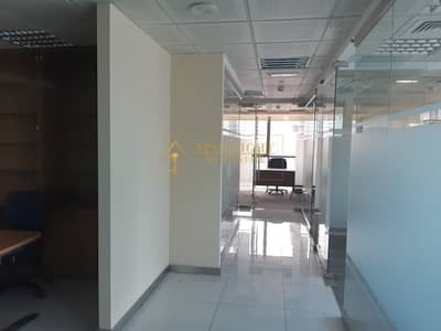 Office for Rent in Jumeirah Lake Towers (JLT), Dubai - Fully Furnished office for Rent with glass partition 95K