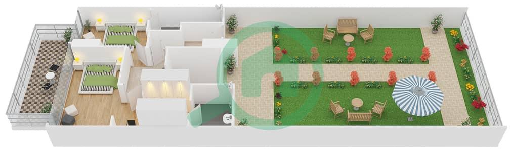 زايا هاميني - 2 غرفة شقق اكتب Duplex B مخطط الطابق