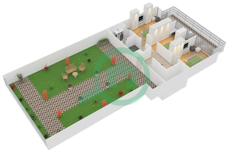 زايا هاميني - 3 غرف شقق اكتب Duplex B مخطط الطابق