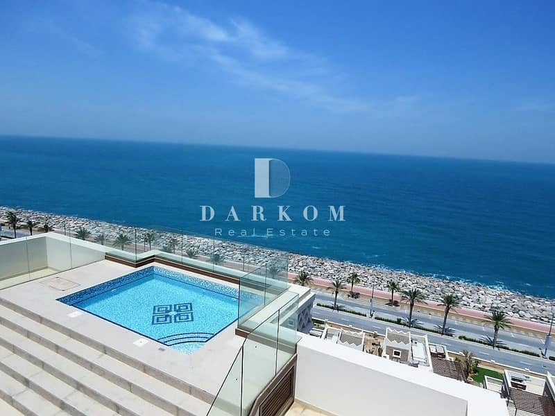 28 Exclusive | Panoramic Sea View | Brand New 4BR + Maid Penthouse