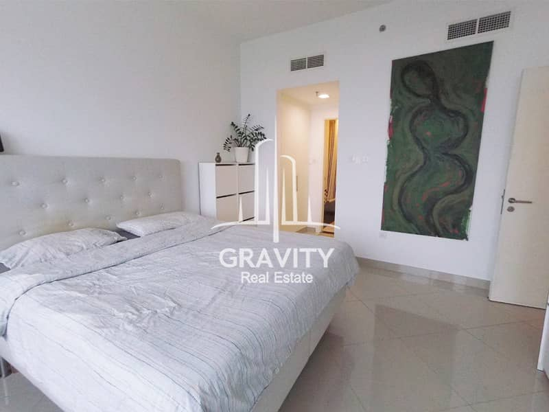 Furnished 1BR on high floor w/ sea view in Oceanscape