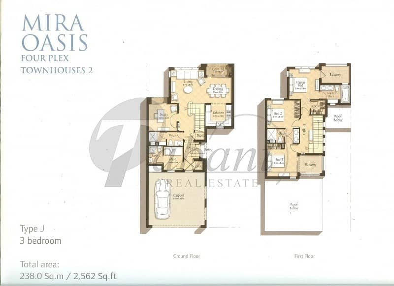 11 Spacious Layout Type J 3 Beds plus Study