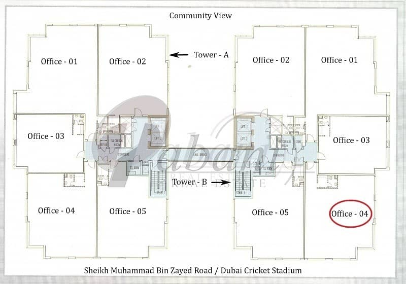 15 Office for rent Jumeirah Village Circle.