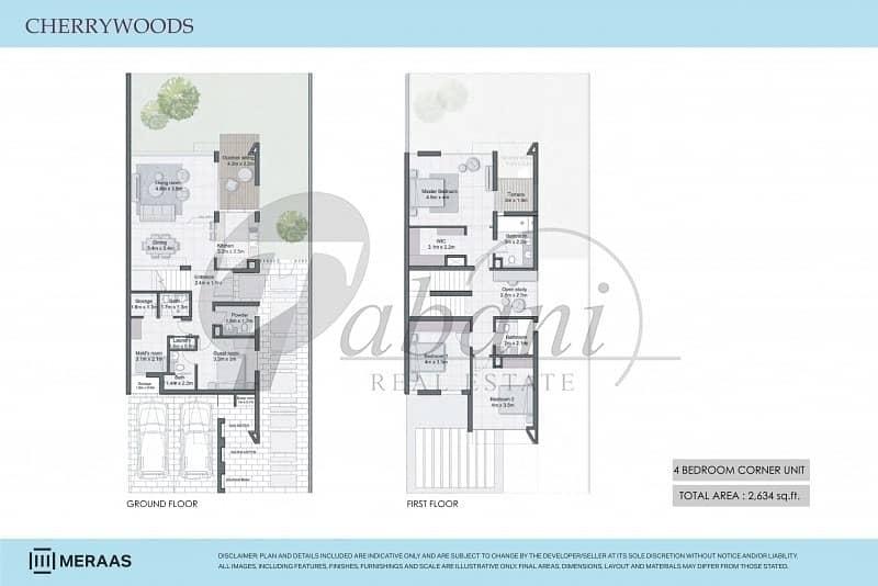 12 Luxury|4 Bed|Corner|Townhouse|PHPP|Meraas