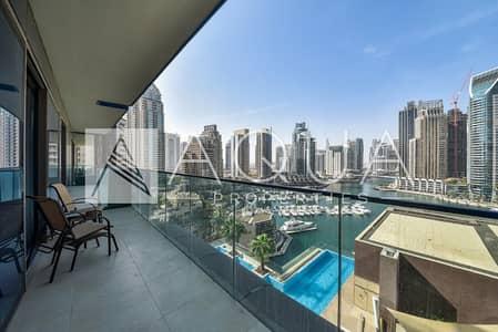 3 Bedroom Apartment for Sale in Dubai Marina, Dubai - 3 Beds with Balcony and Full Marina View