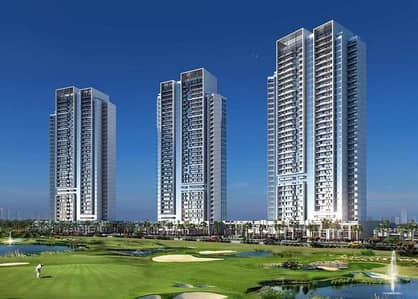 Studio for Sale in DAMAC Hills (Akoya by DAMAC), Dubai - The Best golf view Studio  with 2 years payment post handover