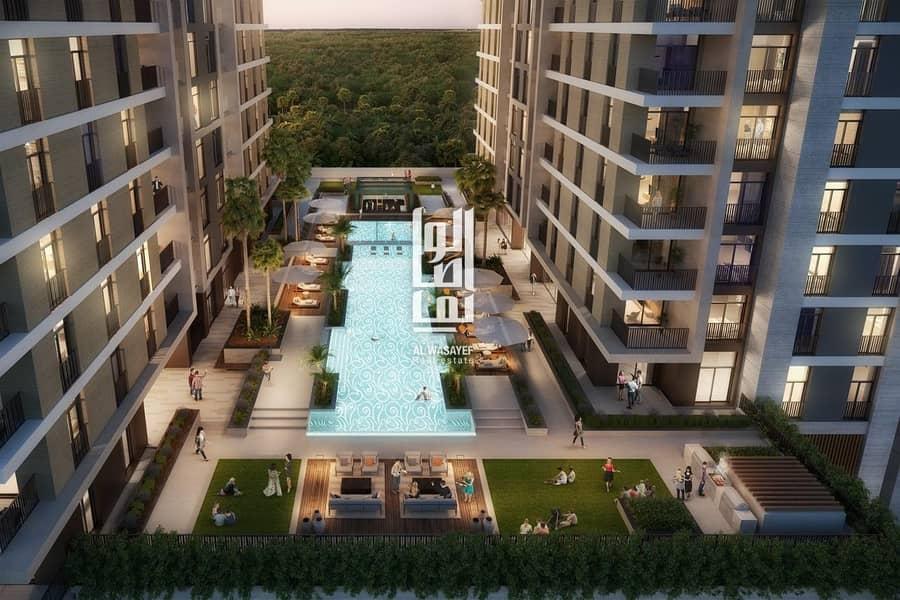 luxury apartment in meydan  10% booking