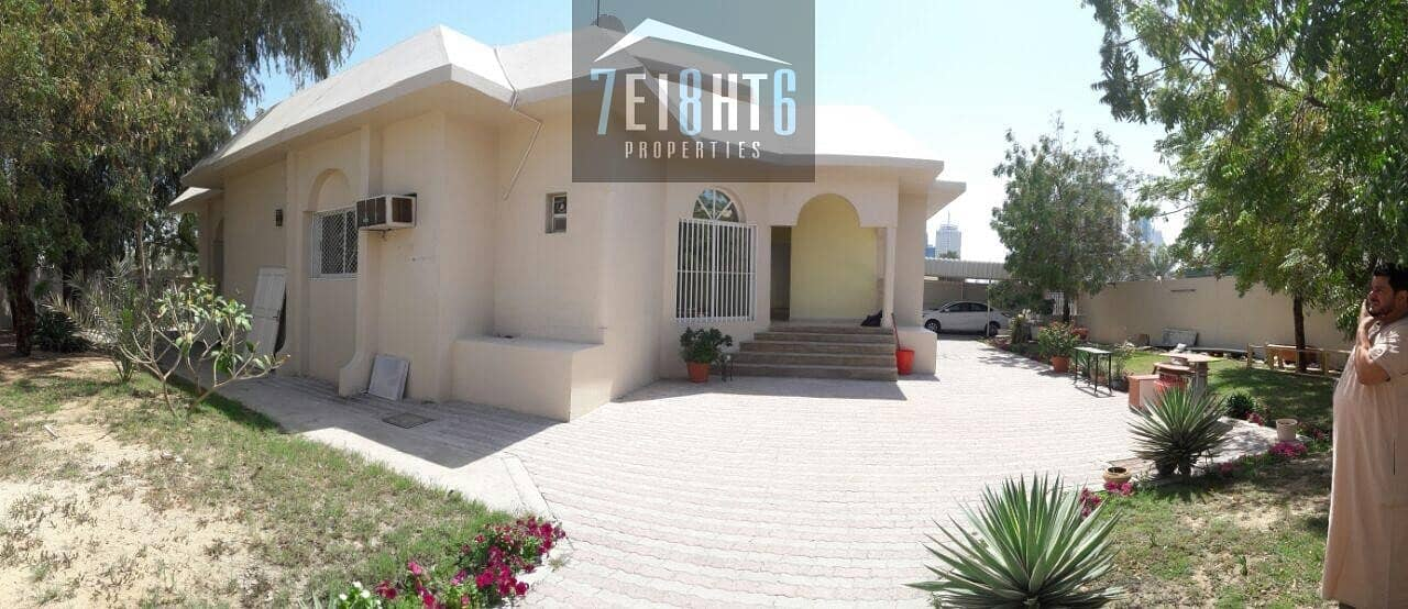 Bungalow style ground floor elegent villa : 3 b/r private well maintained spacious villa + maids room + large garden