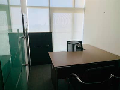 Office for Rent in Jumeirah Lake Towers (JLT), Dubai - Fitted Furnished w Balcony 6 Glass Partitions [KH]