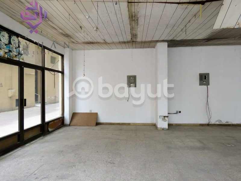 2 SHOP AVAILABLE NEAR AL QASBA/ DIRECT FROM OWNER/NO COMMISSION/NEGOTIABLE PRICE