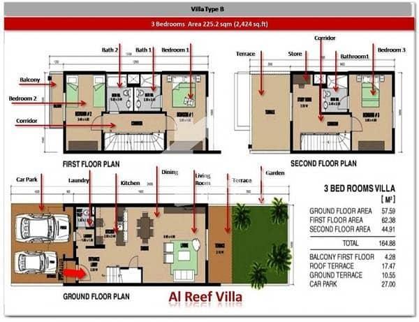 11 Nice 3 Bedroom For Sale In Reef Villa....