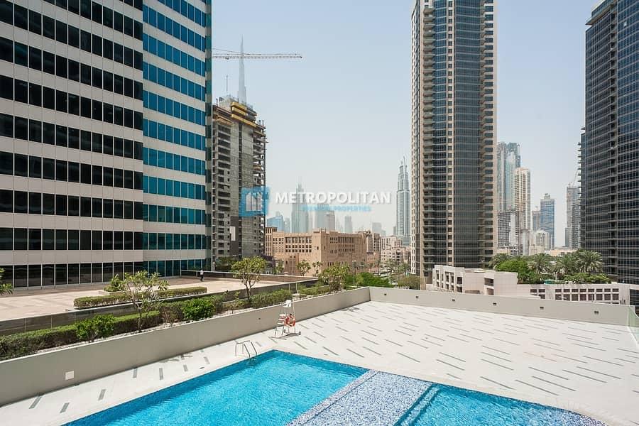 13 Bright Studio | Fully Fitted Kitchen | Burj Khalifa View
