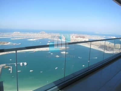 2 Bedroom Flat for Sale in Dubai Marina, Dubai - Full sea and Palm view High Floor 2 Bedroom