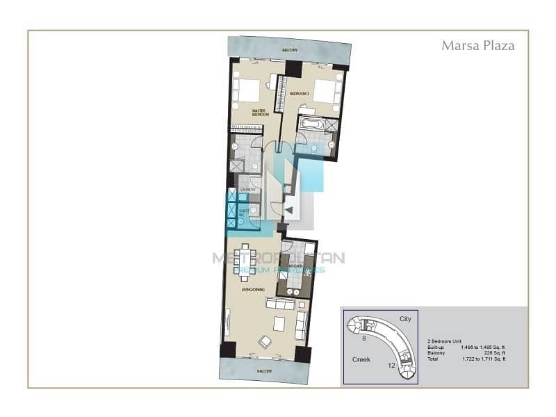 19 Dubai Creek Views | Large 2 Bedroom | Vacant