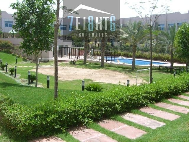 10 4 b/r compound villa + kitchen with appliances + maids room + large landscaped communal gardens + swimming pool + gym