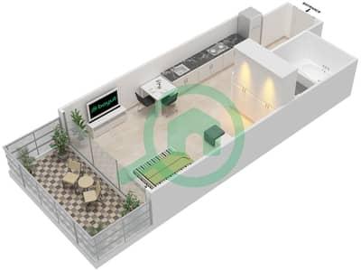 المخططات الطابقية لتصميم الوحدة 13 FLOOR 6-9 شقة  - برج 108
