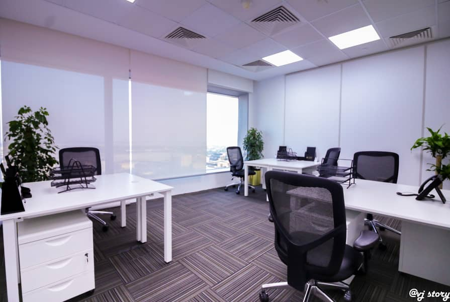 10 Fully serviced office in the heart of Dubai in a 5* location