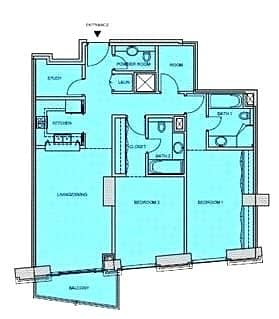 10 Two Bedrooms | Study | Store | 1400 Sqft