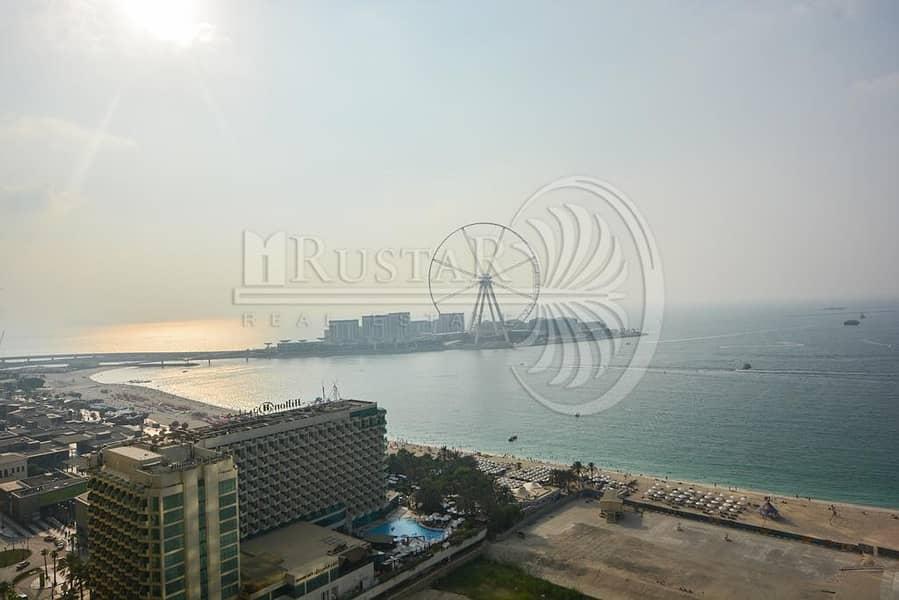 2 High Floor - Dubai Eye and Sea View 3B/R+ Maid for sale.