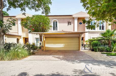 4 Bedroom Townhouse for Sale in Green Community, Dubai - EXCLUSIVE | Upgraded | Backing Pool