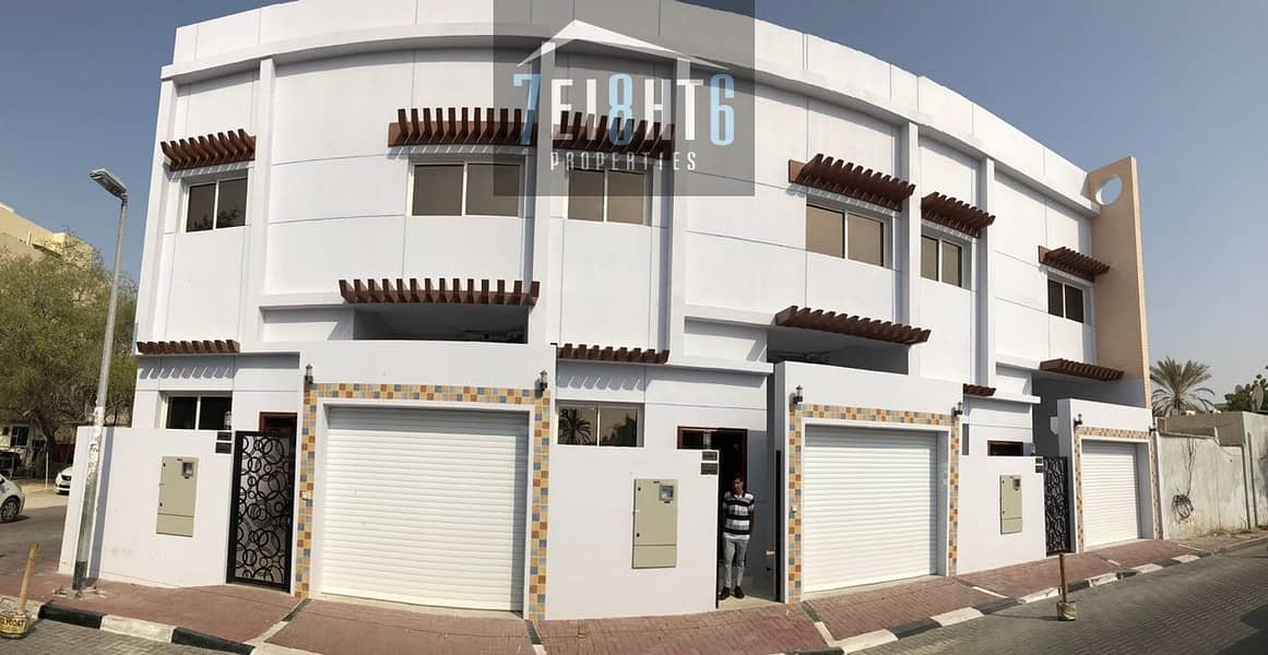 Suitable for investors + staff accom: 5 b/r spacious villa with several living rooms for rent in Al Bada'a