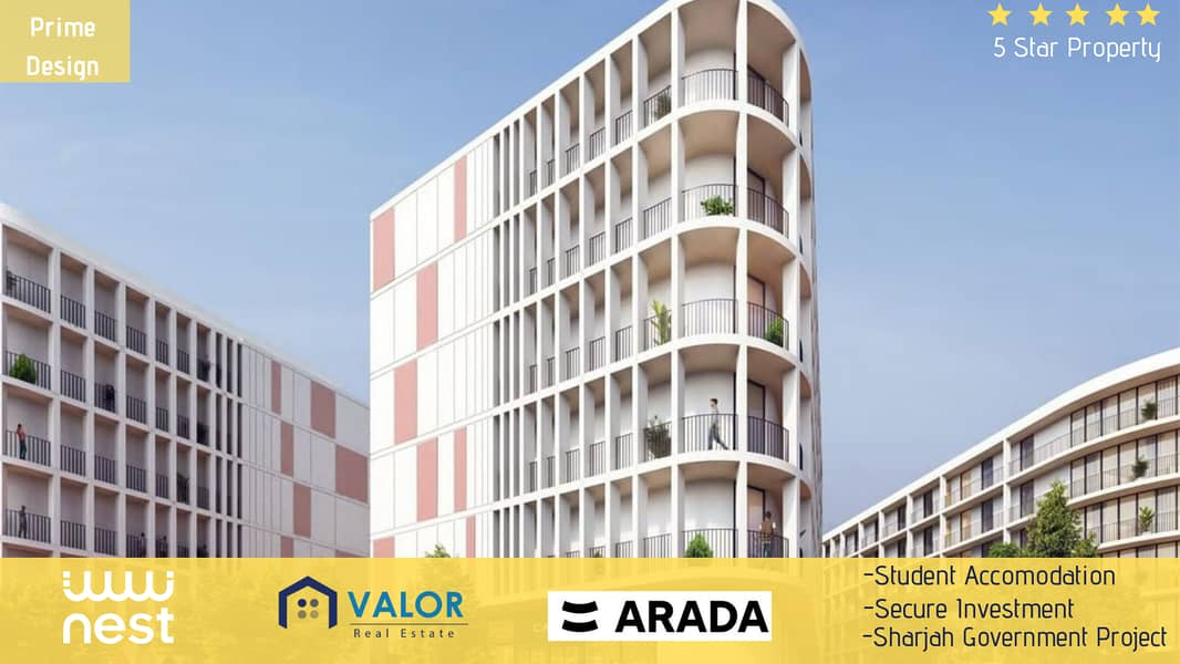 2 Student Accommodation   UAE's First Ever Student Residence   8% Guaranteed Net Return    Sharjah Government Project