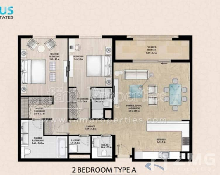 11 Brand New 2 BR with Balcony|Vacant|Chiller free