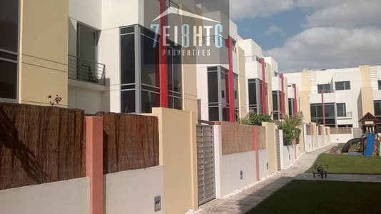 4 b/r semi-independent villa with maids room + gym + shared s/pool + landscaped garden + security for rent in Mirdif
