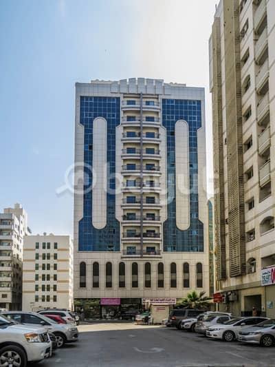 شقة 1 غرفة نوم للايجار في القاسمية، الشارقة - القاسمية / المحطة خلف بنك الهلال في شارع الملك عبد العزيز مقابل حديقة المحطة