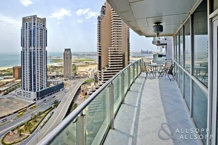فلیٹ 3 غرفة نوم للايجار في دبي مارينا، دبي - 3 Bed | Huge Balcony | Sea and Marina View