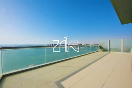 بنتهاوس 3 غرفة نوم للايجار في شاطئ الراحة، أبوظبي - Furnished Sea View 3 BR Duplex Penthouse